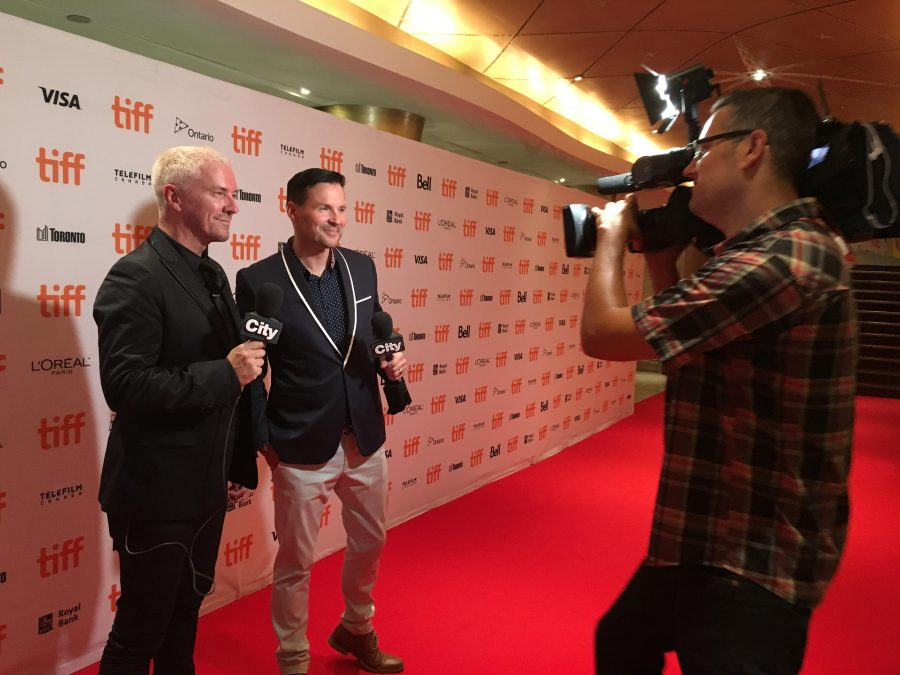 Colin and Justin on the TIFF red carpet. (Photos on red carpet courtesy Colin and Justin)