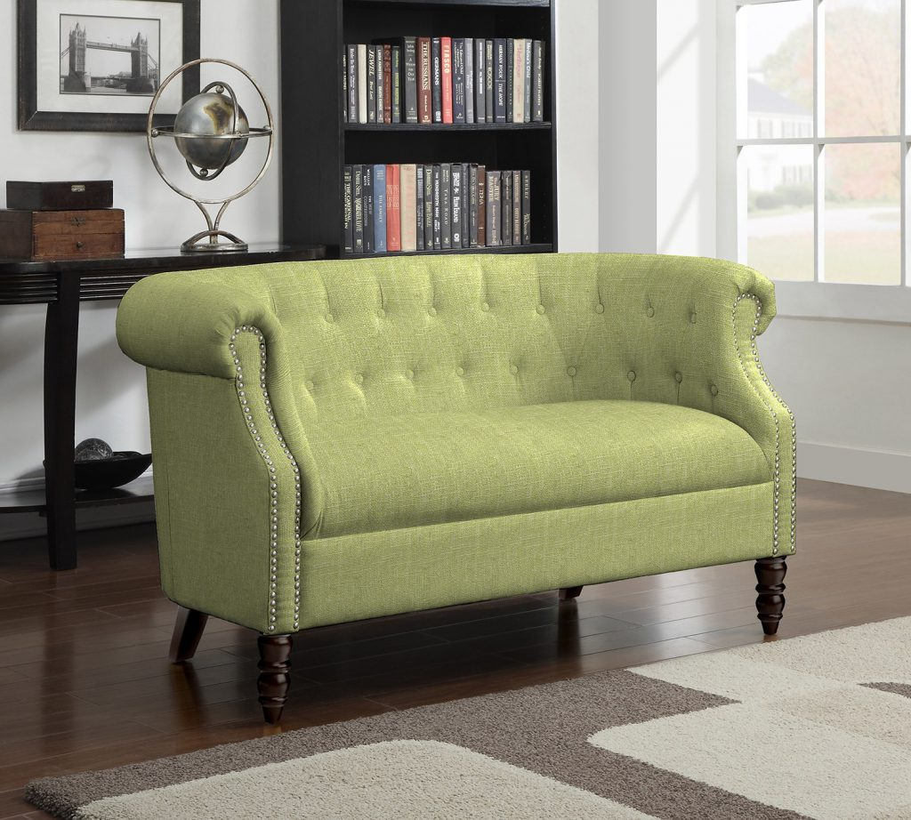 Colour of the Year - Greenery - couch