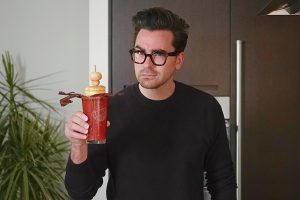 Dan Levy and his personally concocted Ceasar (recipe can be found at the end of the story).