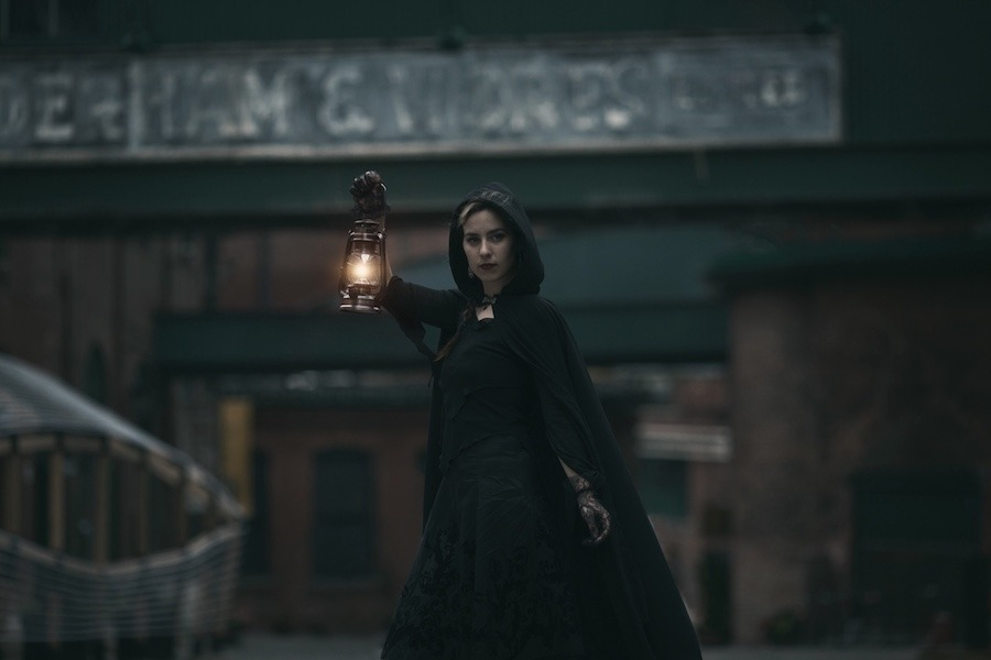 Ghosts and Spirits of the Distillery -- a guided tour by The Haunted Walk of Toronto through one of the city's most spooky spots -- runs year-round. (Courtesy of The Haunted Walk)