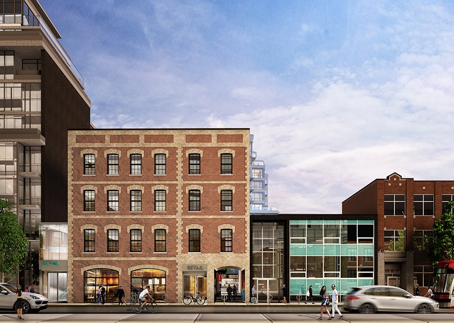 Despite Toronto's growth and continuous evolution, history has its place. Case in point: 642 King St. W., built in 1894 and bought by developer Allied Properties REIT in 2016. The future vision, as seen above.(Rendering courtesy of Sweeny &Co Architects Inc.)
