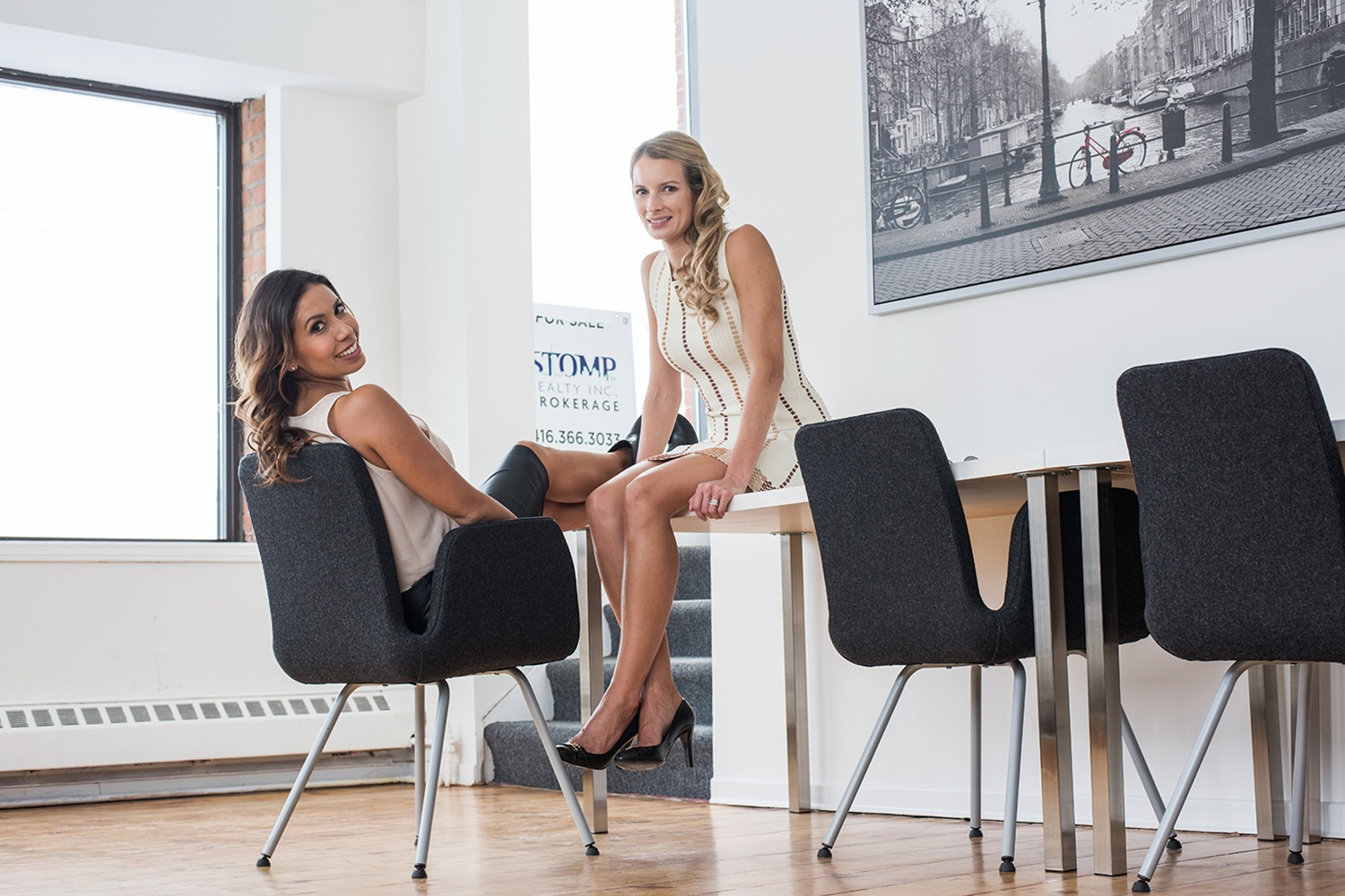 Lorena Magallanes and Erica Smith of Stomp Realty Inc. Brokerage