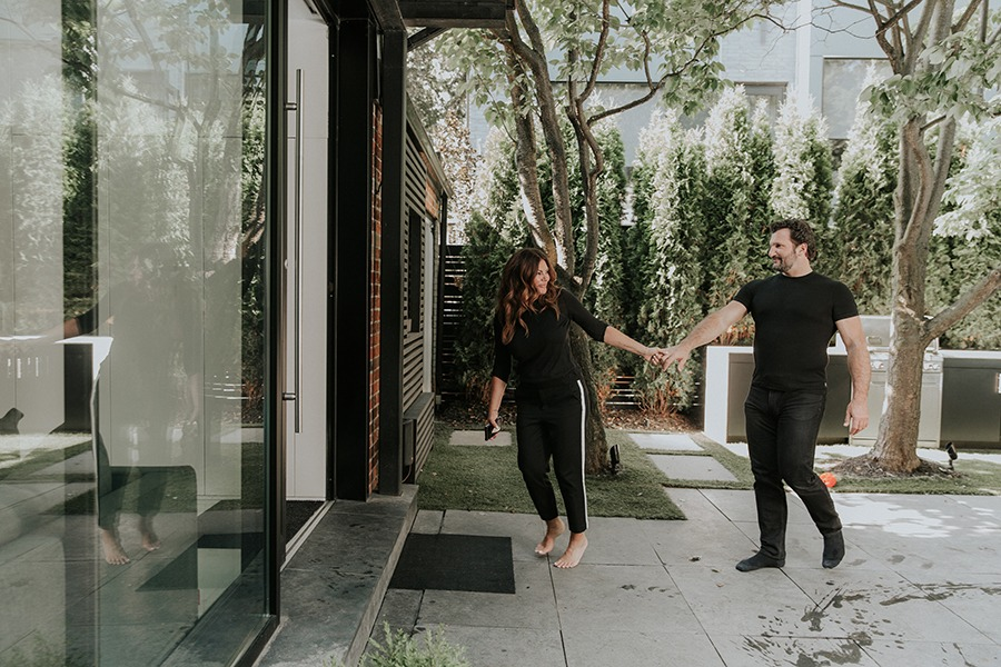 Koifman and her partner Anthony Mantella, who moved in with her last year and who, she says, inspires her to enjoy the unique space differently.