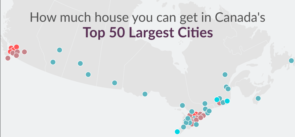 What Canada's Average House Price Will Buy You Across The