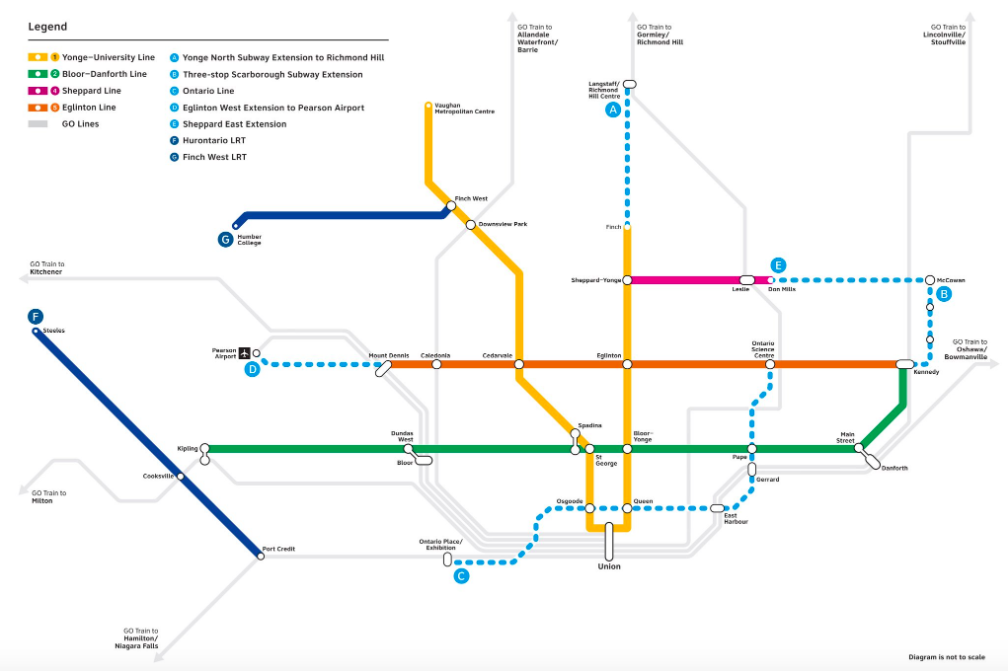 Bloor Danforth Subway Map.Doug Ford Introduces Ontario Line And Everyone Has Questions