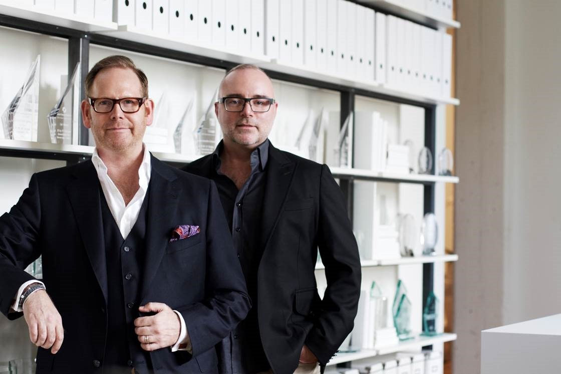The brainchilds behind II BY IV DESIGN: Keith Rushbrook, left and Dan Menchions, who founded the downtown Toronto-based firm in 1990.