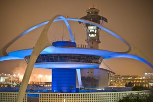 The Theme Building at Los Angeles International Airport.
