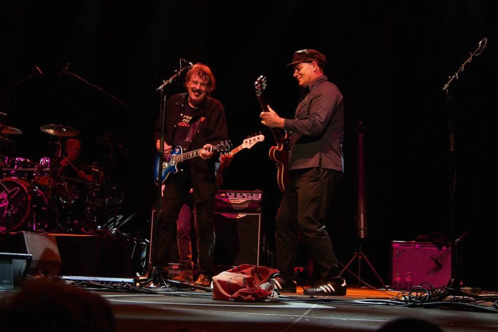 """Tim Bovaconti has been my musical muse for over 14 years. He is an original in every sense."" – Burton Cummings of The Guess Who, above left, with Bovaconti."