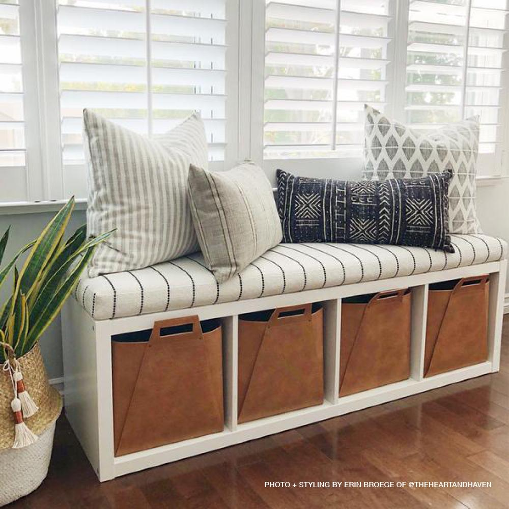 Boho Bedroom Storage Bench